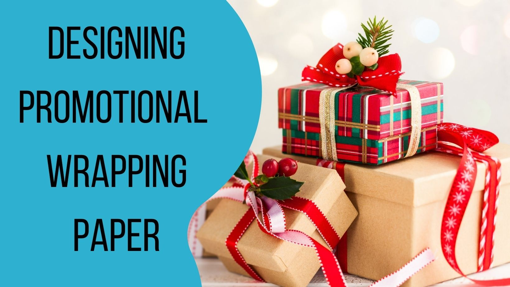 Designing promotional wrapping paper